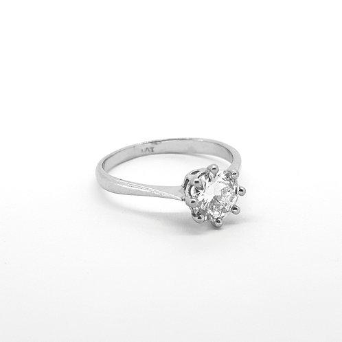 Platinum solitaire diamond ring. 75cts