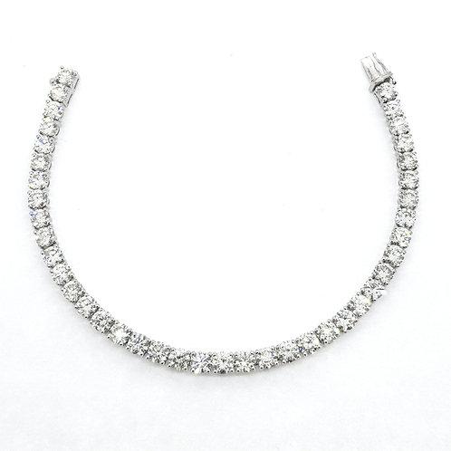 Diamond line bracelet 12.30 cts