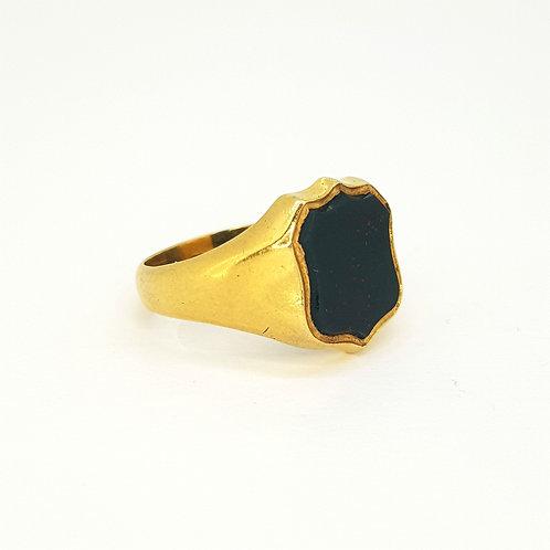 18 carat bloodstone signet ring