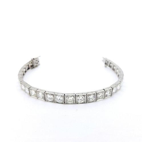 Diamond line bracelet est 12cts platinum
