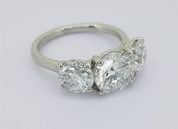Classic 4.03ct three stone diamond ring.