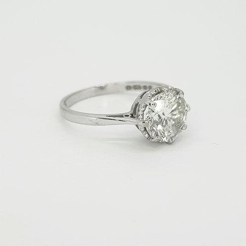 Diamond solitaire ring.