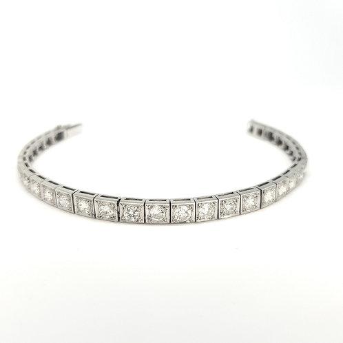Platinum Art Deco line bracelet.