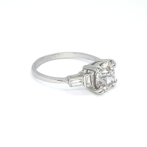 Solitaire diamond with baguettes CS2.16CTS X0.25 platinum