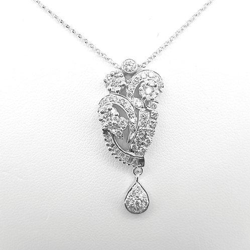 18 carat diamond pendant and chain