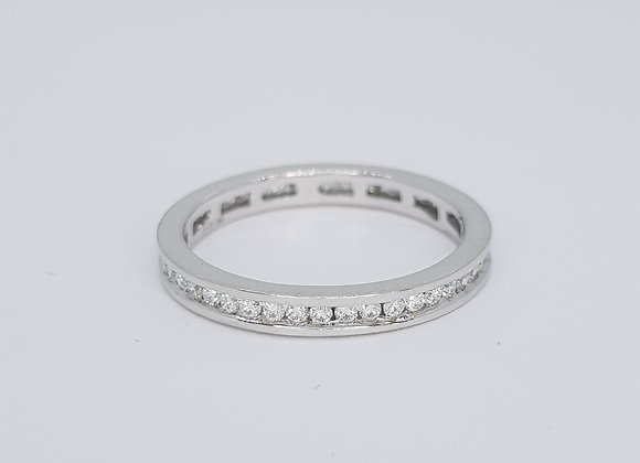Full Diamond eternity band 18ct est D1.00cts size N 1/2