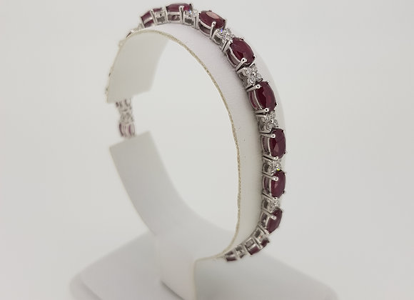 Ruby and diamond bracelet R10.22cts D1.40cts