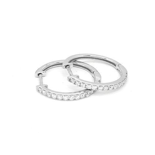 9 carat diamond hoops 0.2 1 carats