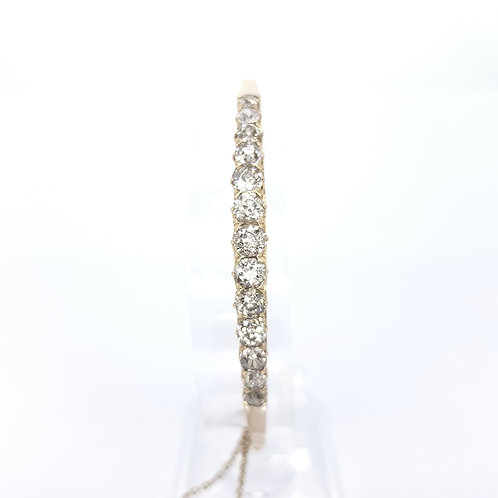 French 18ct bangle D3.0CTS