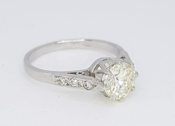 Solitaire diamond 0.90cts i/j colour