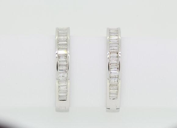 Baguette hoop earrings 1.87cts