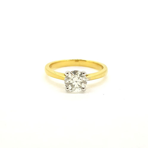 Solitaire Diamond ring 1.01ct G colour Si2