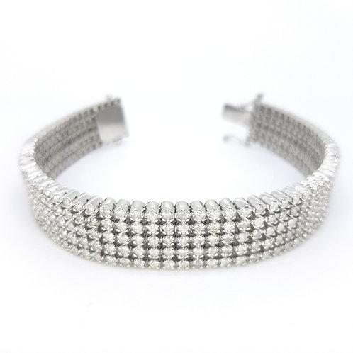 12CTS 5 Line bracelet 65.5gms
