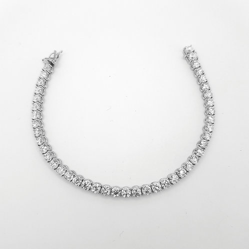 18ct Diamond line bracelet Gcolour SI 11.10CTS