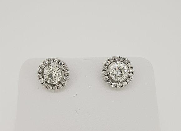 Halo diamond studs d1.64cts halo d.52cts