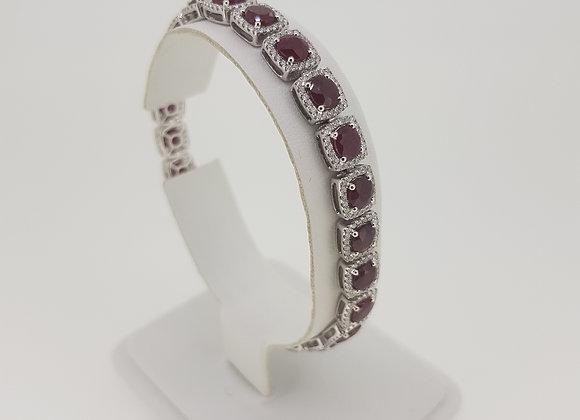 Ruby and diamond bracelet.