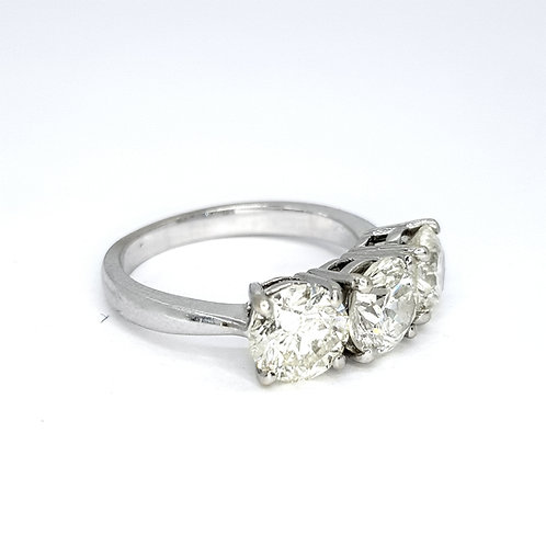 Three stone diamond ring CS1.30CTS S2.43CTS
