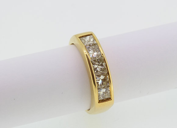 Channel set diamond ring D1.60ct