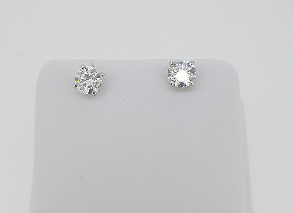 Diamond studs 1.45 cts.