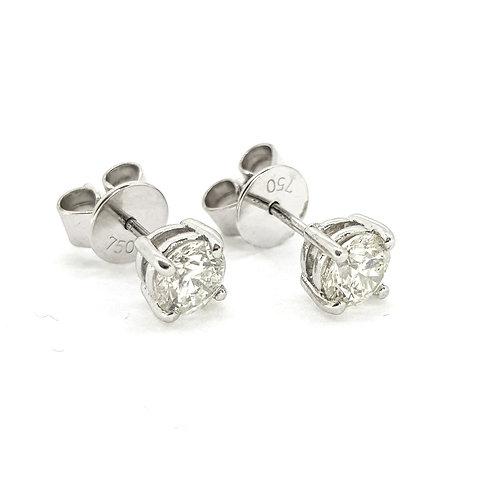 18Ct diamond studs 1.02Cts