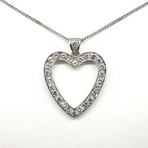 Diamond heart and chain