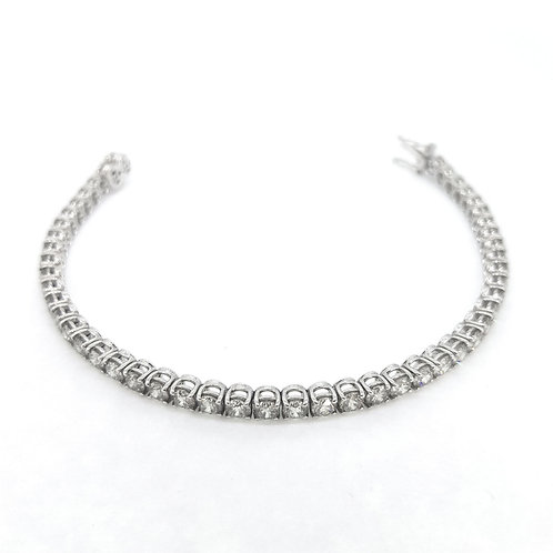 D9.08cts Diamond line bracelet.