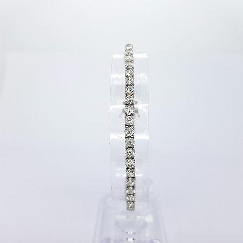 Diamond line bracelet D7.74CTS H Colour