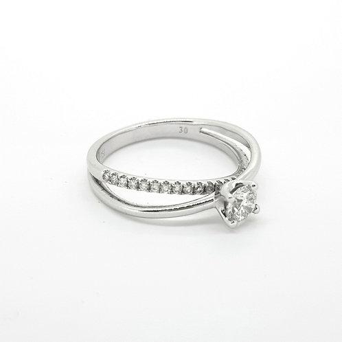 Twist diamond ring D0.33 PLUS 0.18CTS