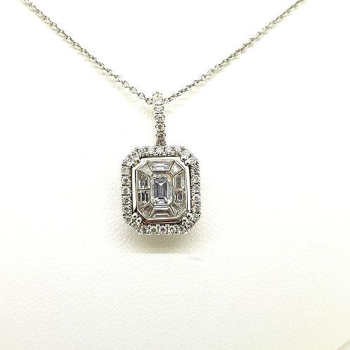 Diamond pendant and diamond chain 1.02Cts
