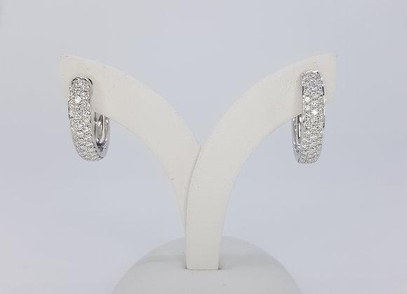 Diamond hoop earrings 0.70cts