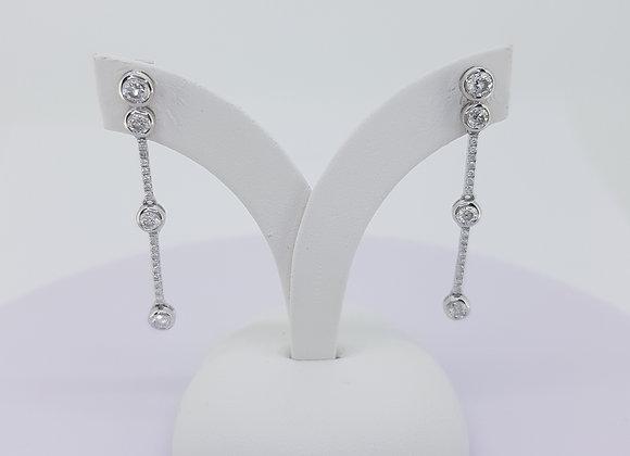 Diamond drop earrings 0.70cts