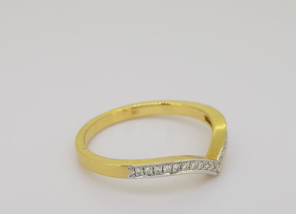 Diamond ring 0.10cts