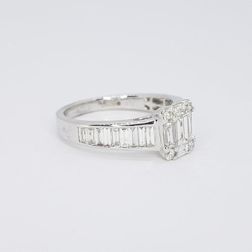 Illusion set diamond ring 1.02CTS