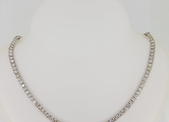 33cm diamond line necklace 17.9cts 22.7gms