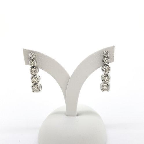 Diamond drop earrings D2.00CTS