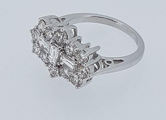 Diamond boat ring