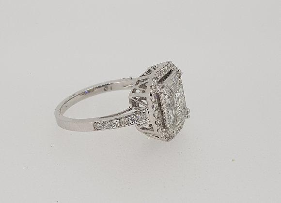 Pave` set diamond Ring