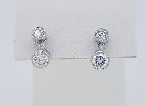 Diamond drop studs 1.10 cts