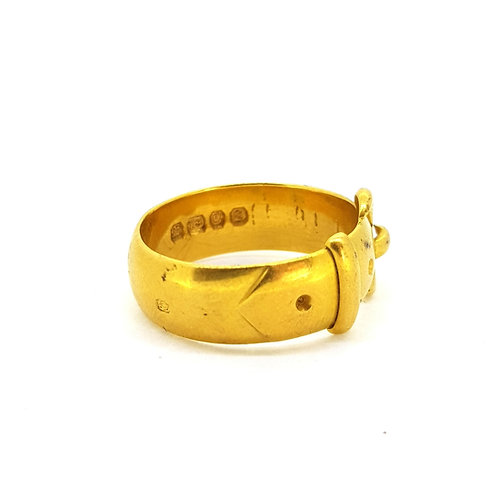19th Century 18 carat Gold Buckle ring