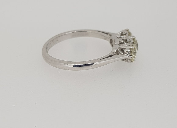 Traditional diamond 3 stone ring.