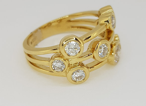 Boodle style diamond ring tdw1.50cts