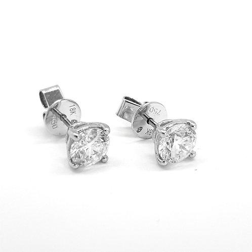 18Ct diamond studs 1.26Cts Gcol Si1