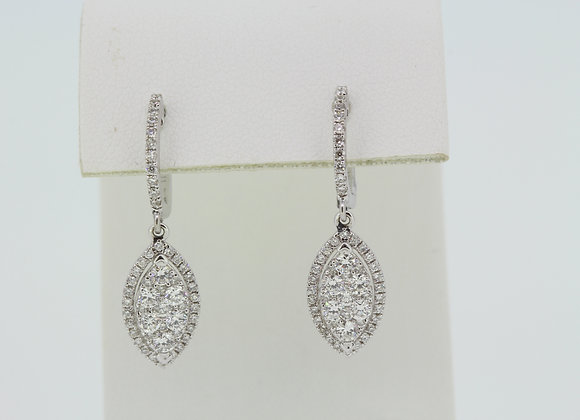 Diamond drop earrings d1.0cts