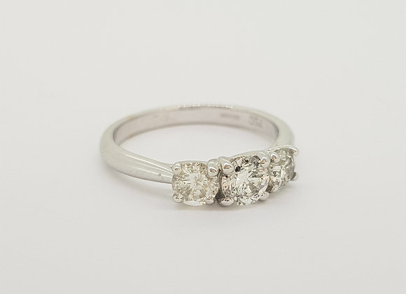Diamond three stone ring TDW0.75CTS