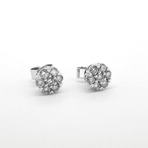 Diamond cluster studs   0.72cts