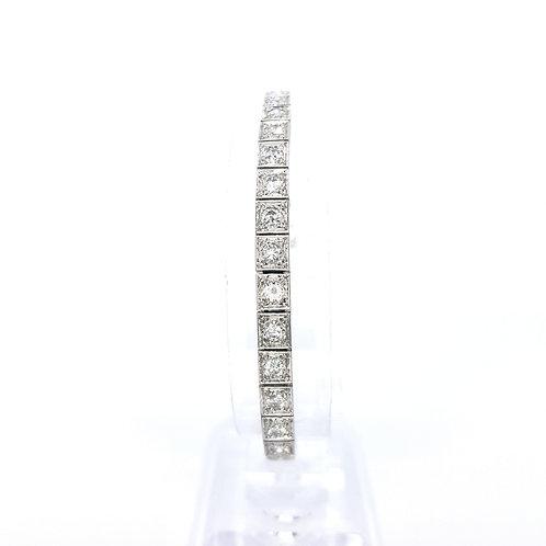 16.5cm diamond line bracelet est 4.0cts