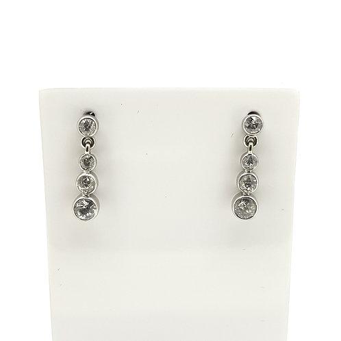 18ct vintage diamond drop earrings est.1.0Cts
