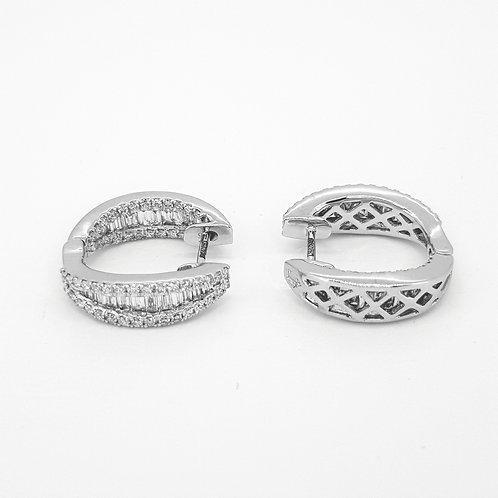 18 Baguette diamond hoops TDW1.20CTS