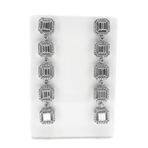 Diamond drop earrings 4.50Cts