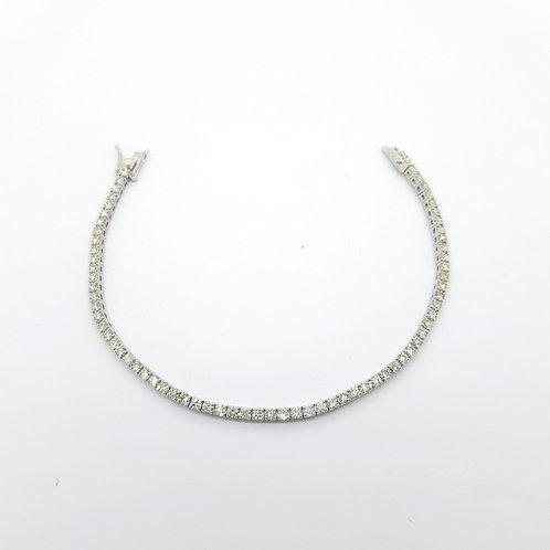 Diamond line bracelet D3.30Cts 7.4gms